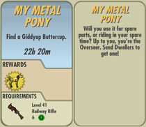 FoS My Metal Pony card