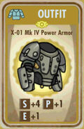 FoS X-01 Mk IV Power Armor Card
