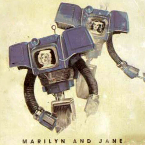 Marilyn and Jane portrayed on the official card deck