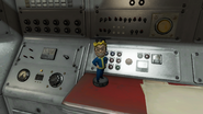 FO4 Intelligence Vault-Tec bobblehead in Boston Public Library