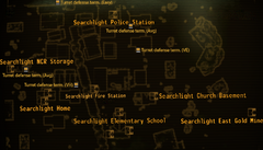 Camp Searchlight map
