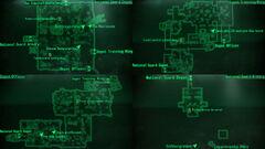 National Guard depot map