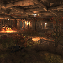 The first room, with the mission terminals in the corner