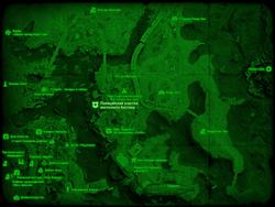 FO4 Полицейский участок восточного Бостона (карта мира)