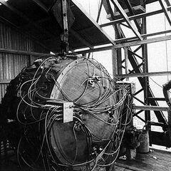Слайд 7: «Трініті» (перше в світі випробування технології ядерної зброї) (1945)