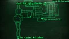 Vault 106 entrance map