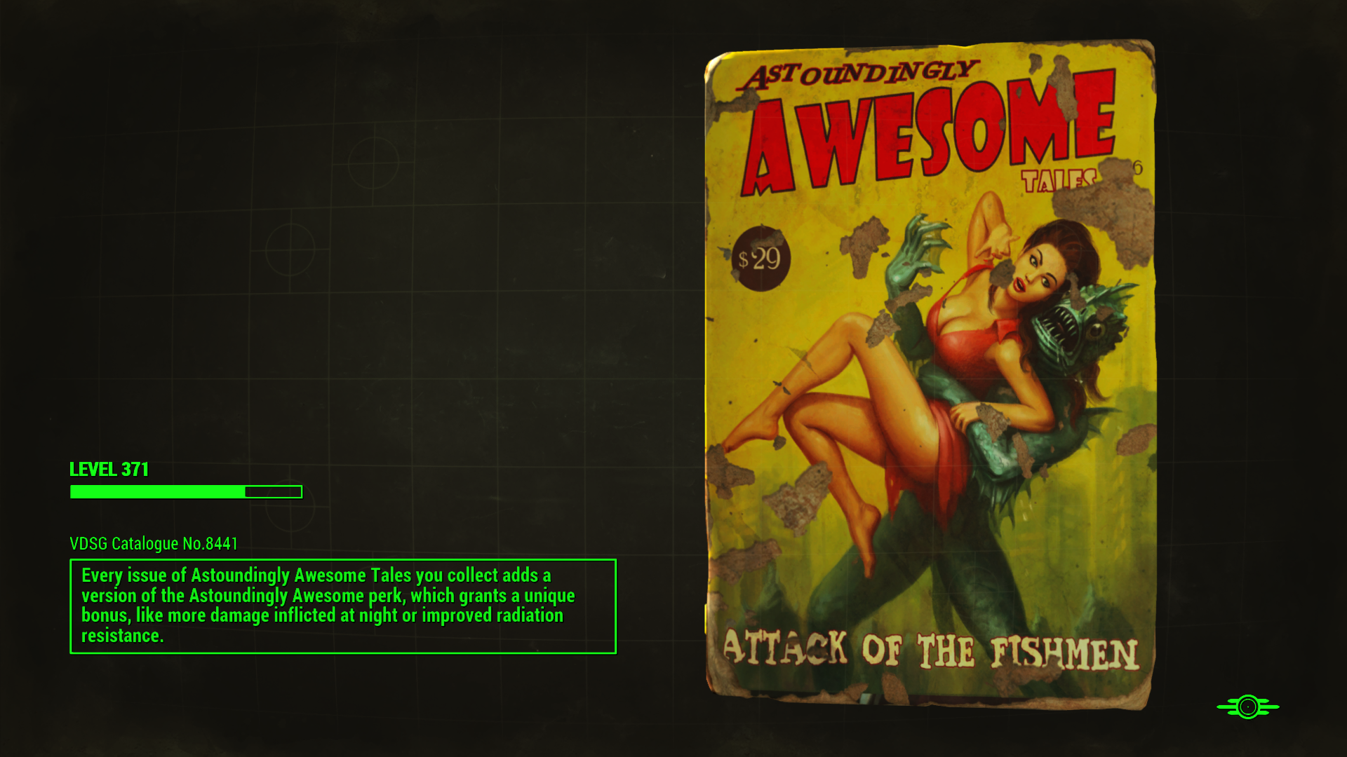 FO4 Astoundingly Awesome Tales Loading Screen