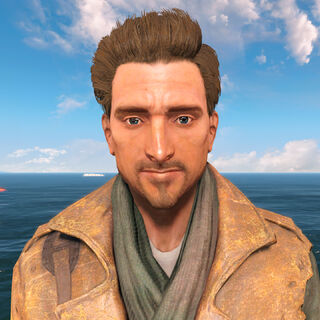 MacCready without his hat in <i>Fallout 4</i>