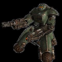 Військовий робот-охоронець з мініганом