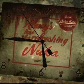 Зламані годинник з рекламою Ядер-Коли.