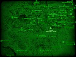 FO4 Тоннель «Масс Пайк» - восток (карта мира)