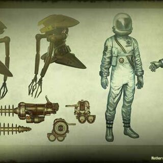 Alien robot and tech concept art
