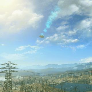 Падаючий НЛО днем