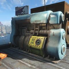 Генератор з ядерним блоком на даху будівлі, що знаходиться навпроти регіонального офісу
