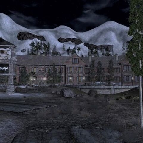 Jacobstown at night