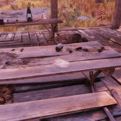 Potential magazine location in the picnic pavilion