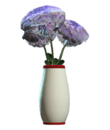 Glass rounded red vase