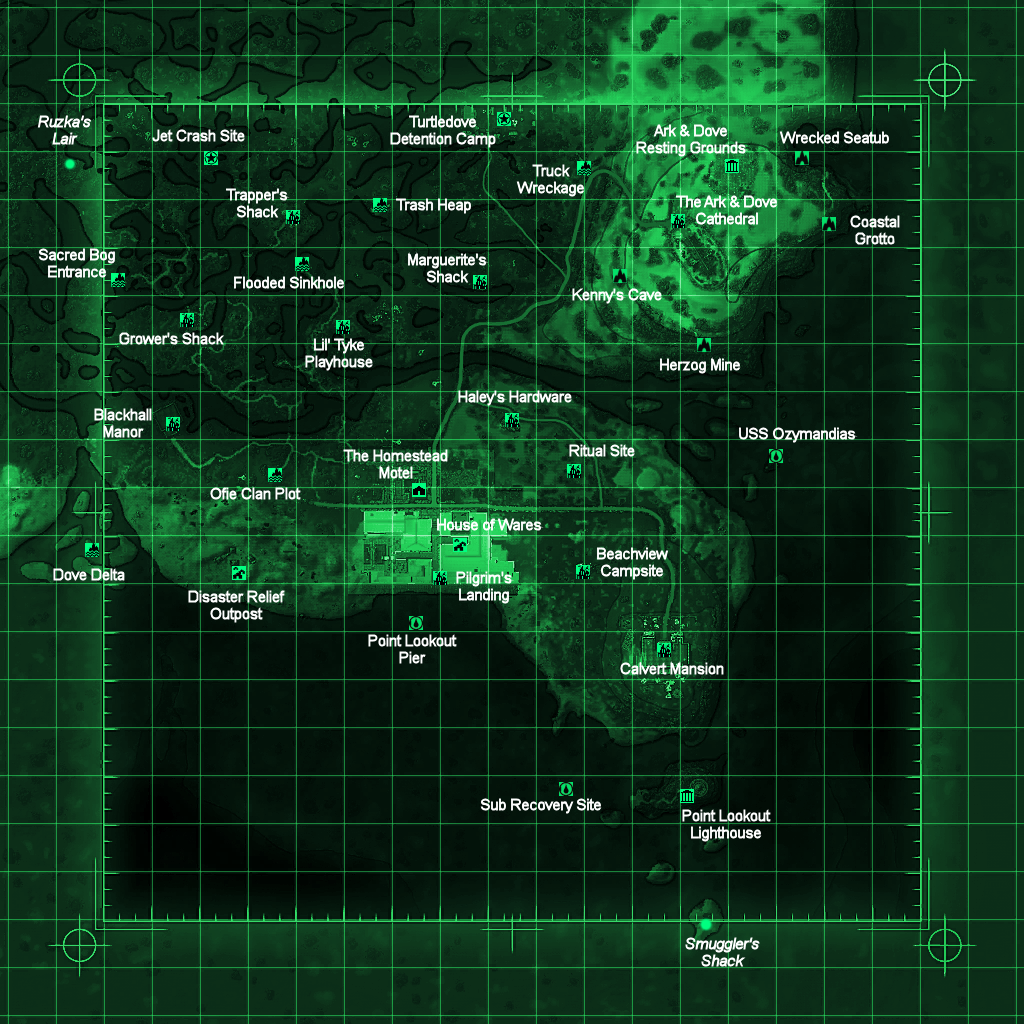 Image - Point Lookout map with locations.png | Fallout Wiki | FANDOM on red dead redemption map, grand theft auto map, fallout bobbleheads map, elder scrolls oblivion map, fallout 1 map, gta 4 map, dead island map, national guard depot fallout map, dark souls map, fallout map united states, mass effect 3 map, fallout 2 map, mass effect 2 map, borderlands map, complete fallout map, far cry 3 map, fallout new vegas map, fallout faction map, skyrim map, fable 3 map,