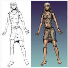 Female human concept art for <i>Fallout Tactics</i>