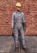 FO76 Clean Steel Worker Uniform Full Female