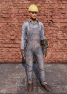FO76 Clean Steel Worker Uniform Full Female