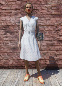FO76 Laundered Blue Dress