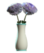 Glass flared teal vase