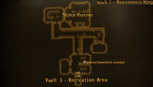Vault 3 maintenance wing map