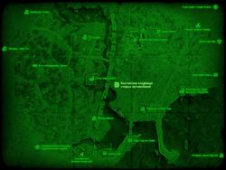 FO4 Бостонское кладбище старых автомобилей (карта мира)