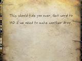 Dead drop note