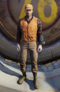 FO76 hunter safety vest orange male