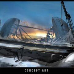 """概念图:""""冻结的船坞"""""""