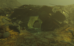 FO4 South Cave entrance (Glowing Sea)