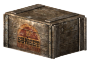 Sunset Sarsaparilla crate