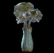 Teal flared vase