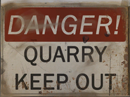 FO4 Poster danger quarry keep out