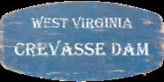 FO76 Crevasse Dam Sign