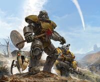 Fo76 power armor troopers lithograph