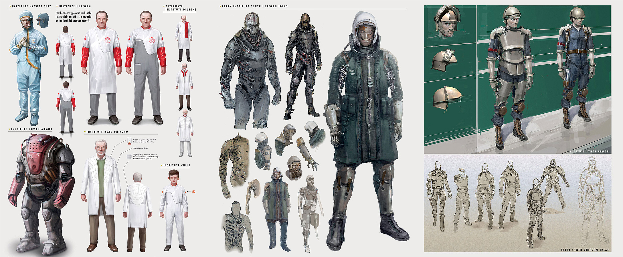 Institute outfit concept art