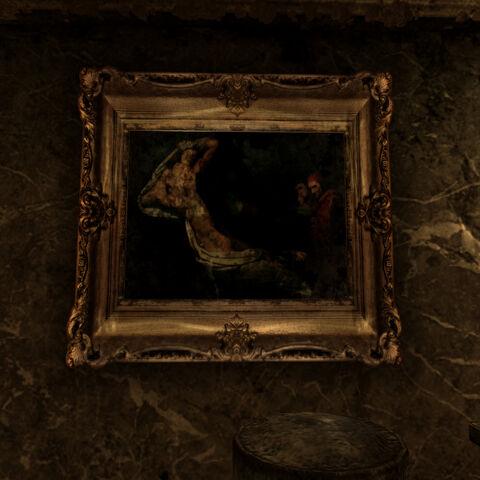 Картина на постаменті в закладі