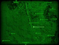 FO4 Контрольная точка «Эхо» (карта мира)