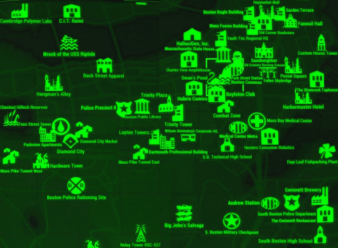 Image FO Map Boston Commonjpg Fallout Wiki FANDOM Powered By - Boston common map