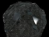 Bulk black titanium
