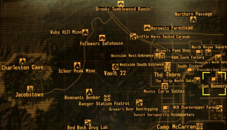 fallout new vegas karte Waffenschieber Hauptquartier (Fallout: New Vegas)   Fallout Wiki