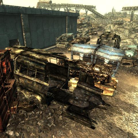 Location of John's treasure box in the scrapyard