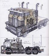 Szkic ciężarówki 1