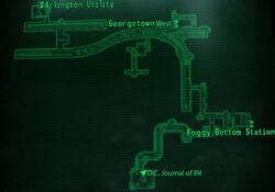 DCTA Tunnel 014-B Potomac map