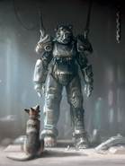 Fo4 Art (Dogmeat and power armor)