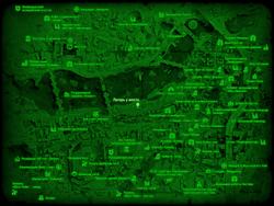 FO4 Лагерь у моста (карта мира)