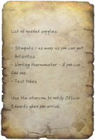 FO4 Dr. Forsythe's Note Page 1